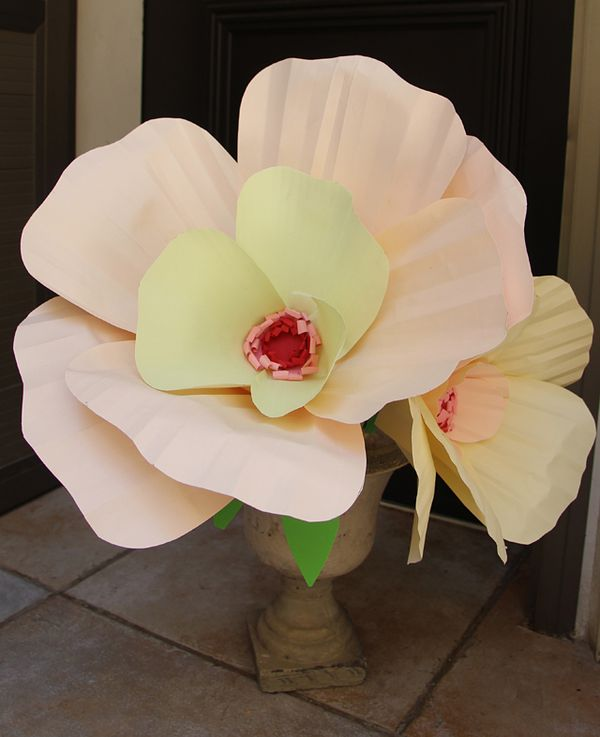 giant paper flower bouquet centerpiece