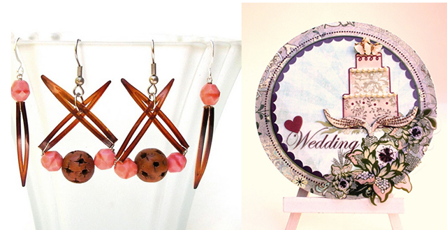 Hair comb jewelry,wedding scrap card