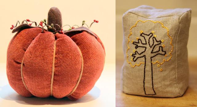 Fall fabric pumpkin, four seasons embroidered bean bags