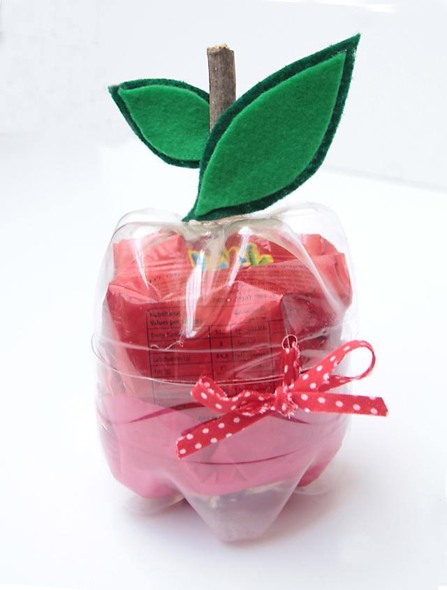 Plastic bottle apple