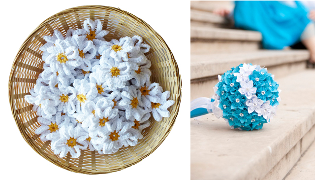 Here are two wonderful DIY ideas for weddings or any time crocheted daisies