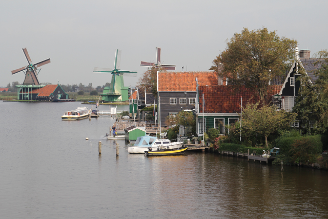 The Netherlands,windmills on the Zaan river in Zaanse Schans