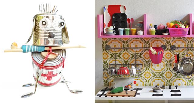 Robot exhibition,play kitchen