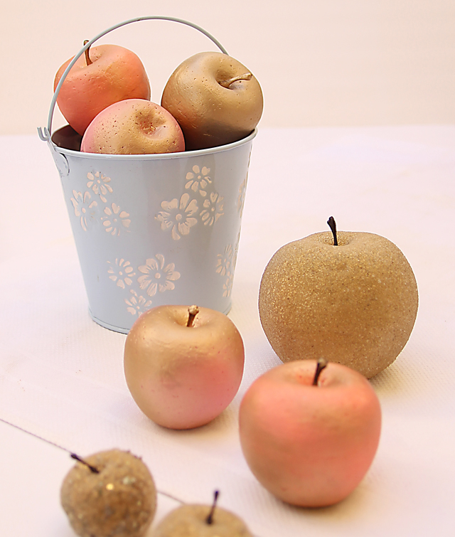 Gilded Apples Fall Centerpiece