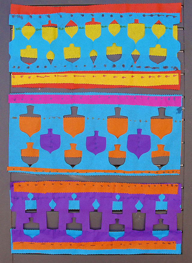 Chanukah Tissue paper patterns 2