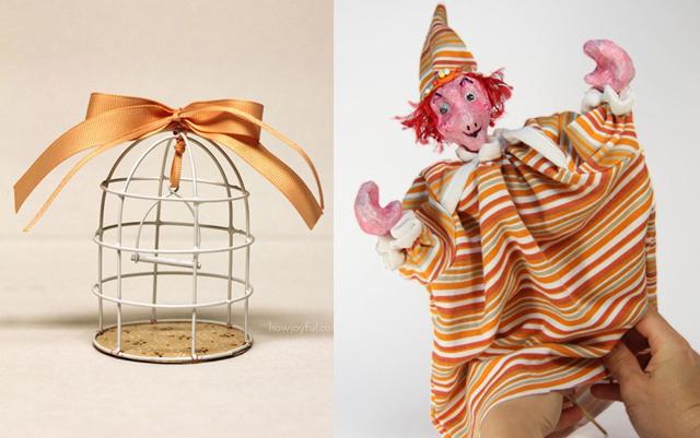 DIY birdcage ornament, hand puppet