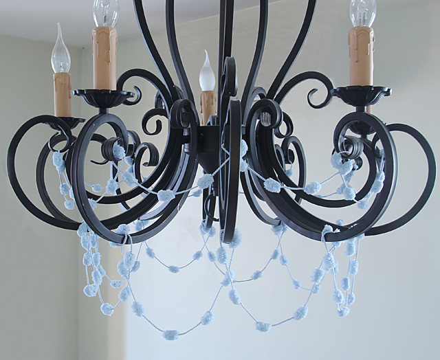 Chanukah Pom Pom Chandelier crop