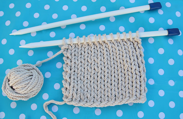 Knitting With Rope