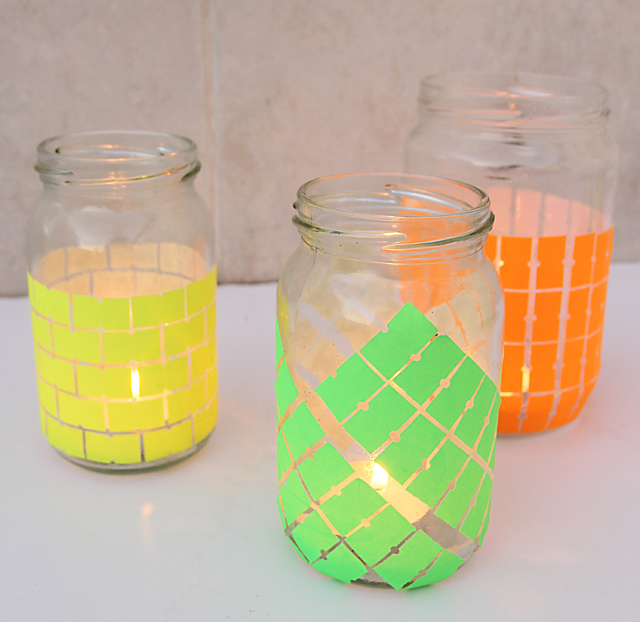 Price Tag Sticker Candle Jars