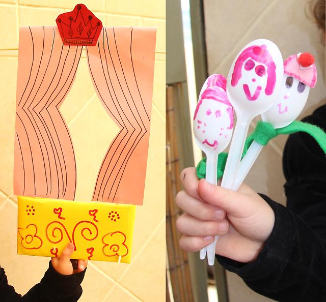 Spoon Puppet kid's craft