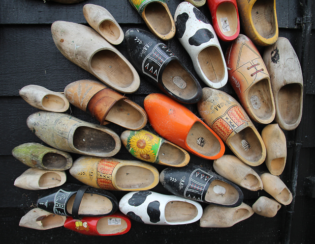 The Netherlands,wooden shoe store in Zaanse Schans