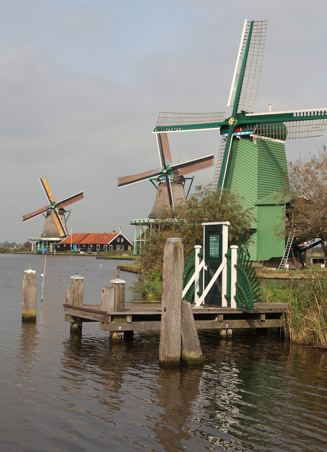 The Netherlands Zaanse Schans windmills