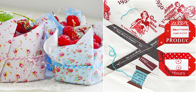 Scissors quilt block,cupcake liners