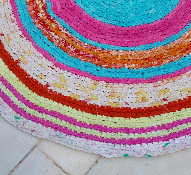 Crocheted Rag Rug closeup