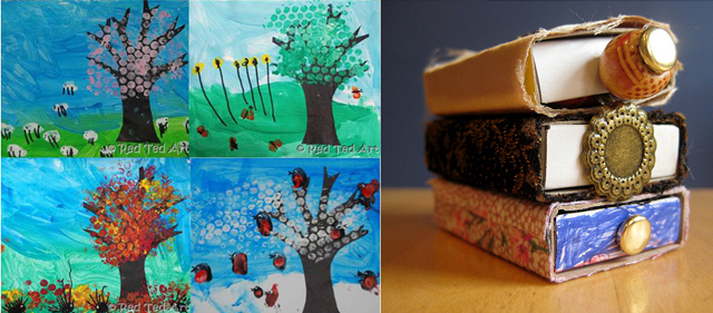 Four seasons craft,mini match book books