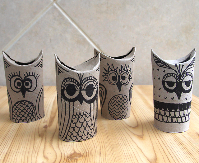 Toilet Paper Tube Owls Great For A Rainy Day - creative jewish mom