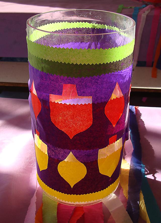 Chanukah Hurrican Purple Tissue paper