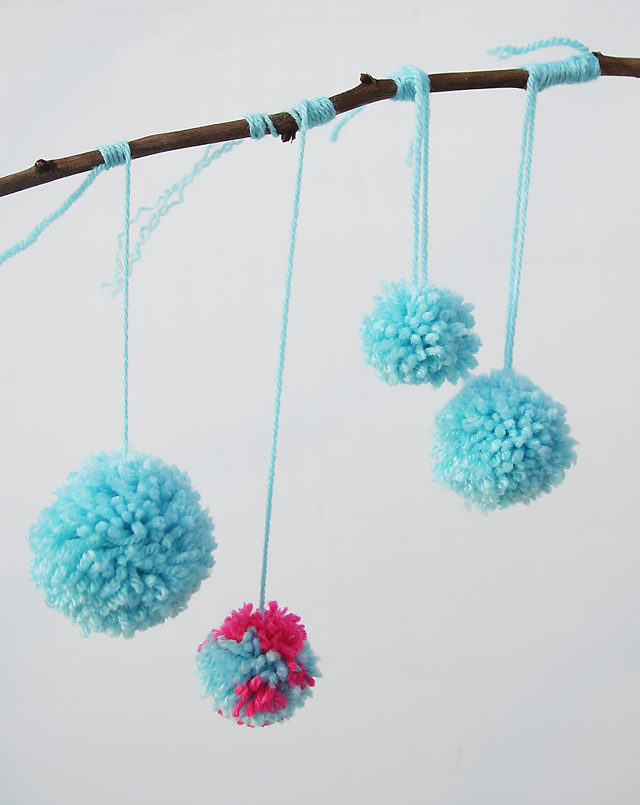 Pom Poms Made By Kids