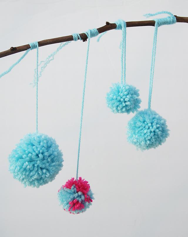 Pom Poms Made By Kids