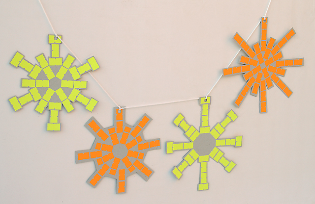 Price Tag Sticker Snowflake Garland