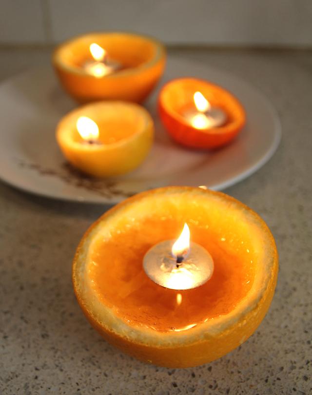 Orange and Citrus Candles