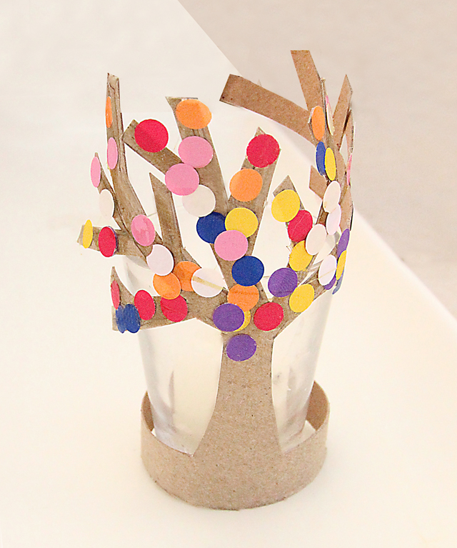 Toilet Paper Tube Tree In Bloom Craft