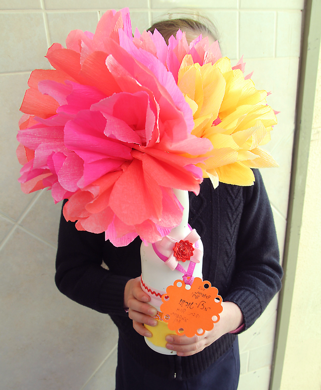 Crepe Paper Flowers Gift