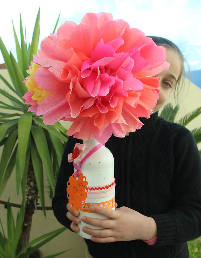 Crepe Paper Flower Bouquet Creative Jewish Mom