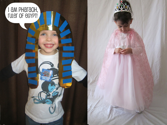 Pharoh and queen esther purim costumes