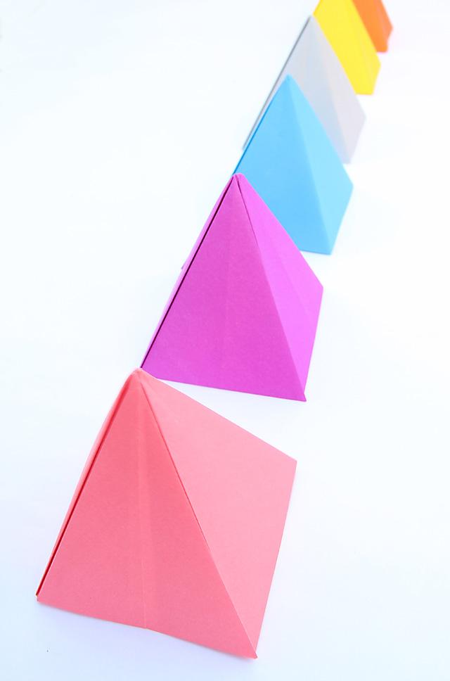 Origami Passover Pyramids