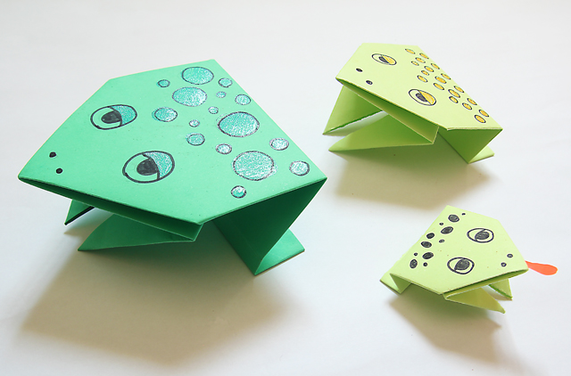 Simple Origami Jumping Frogs For Passover Creative Jewish Mom