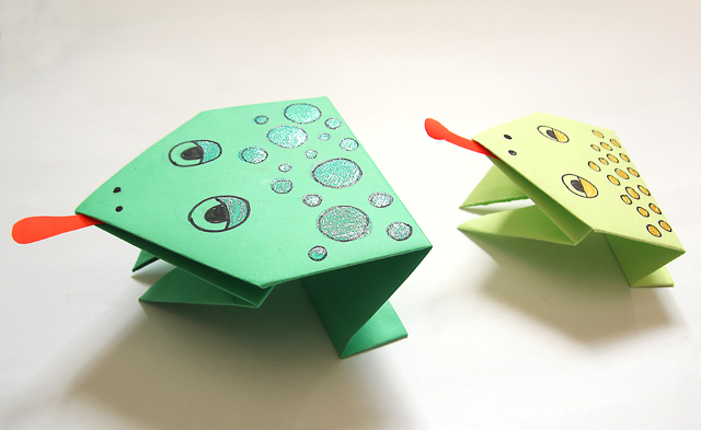Origami Frogs for passover