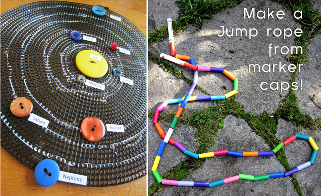 Solarbutton solar System,jump rope from marker caps