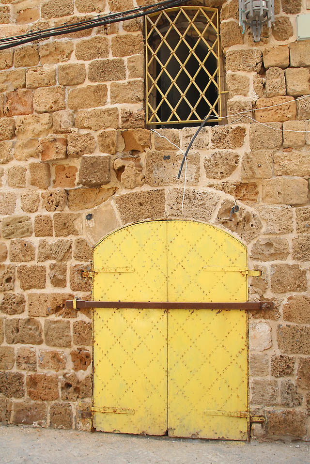 Akko old city yellow door