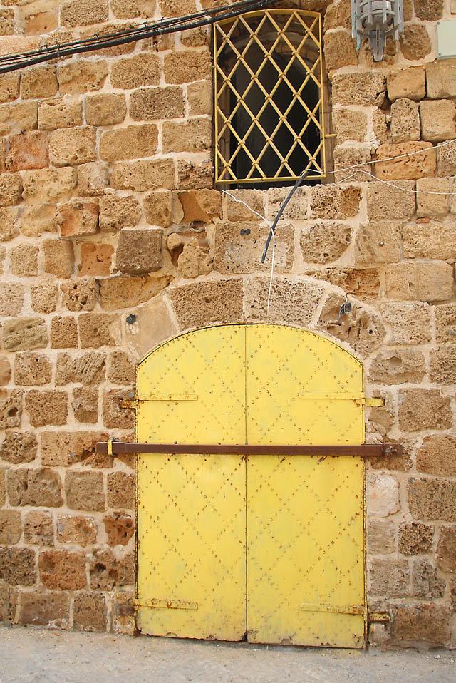Akko old city yellow door
