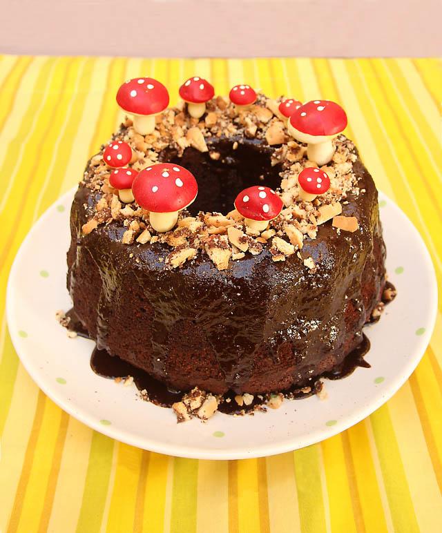 Mushroom Chocolate Cake