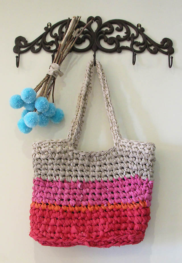 Crocheted Rag Bag From Sheets Creative Jewish Mom