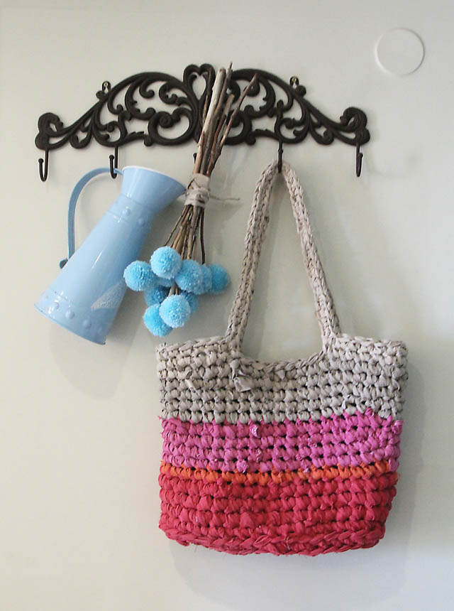 Crocheted Rag Bag from sheets2