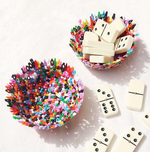 Melted Plastic Hama Bead Bowls Creative Jewish Mom