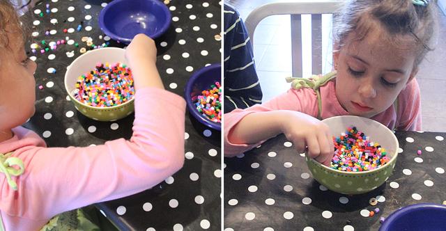 Hama bead bowl in process