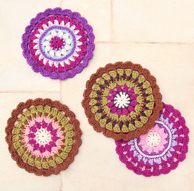 Crocheted Medallion Pot Holder