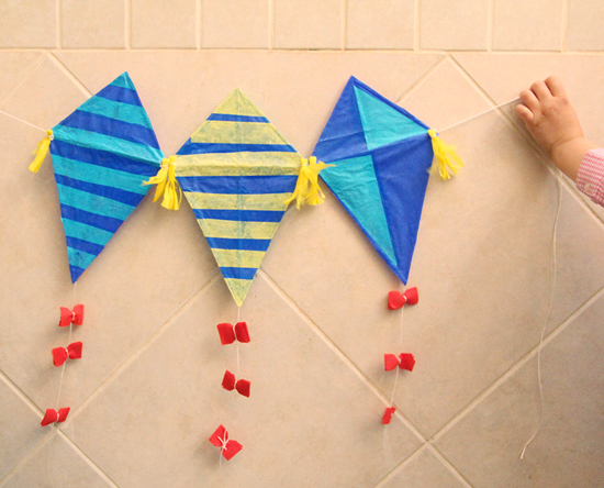 Kite Craft With Straws Complete550