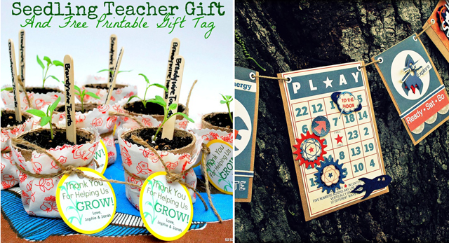 Teacher gift,scrappy bunting