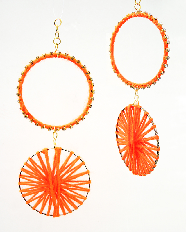 Rhinestone Yarn Bracelet Ornaments - creative jewish mom
