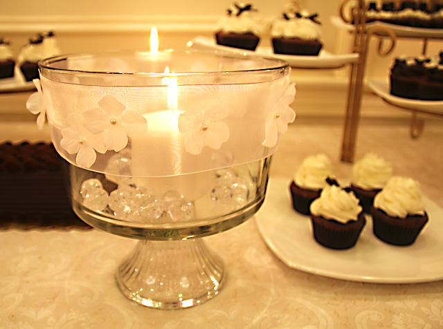 Trifle Bowl Candle Centerpiece