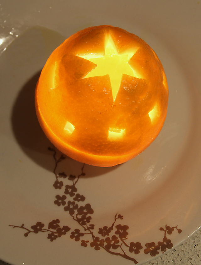 Carved Orange Candle