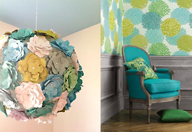 Paper flower lantern, inspiration