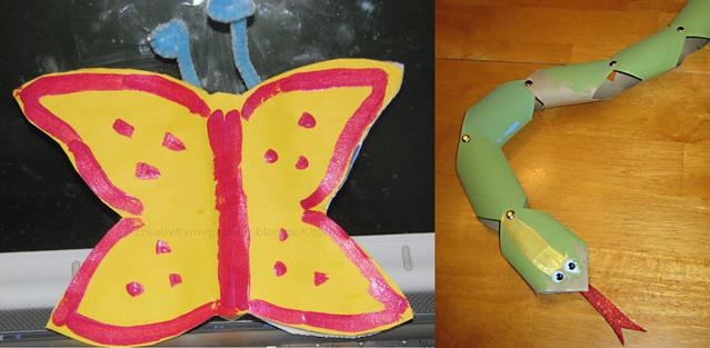 Egg carton butterfly,tp tube snake