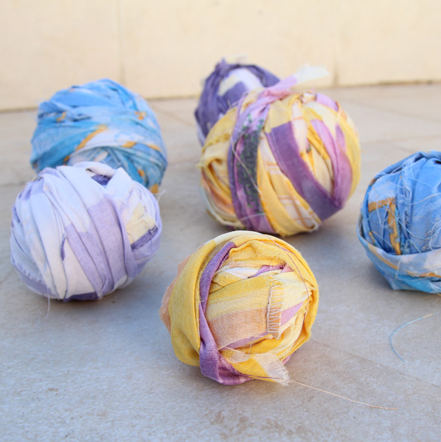 Yarn from sheets how to