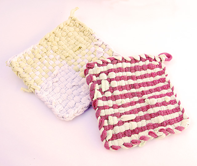 Potholders From Recycled t-shirts